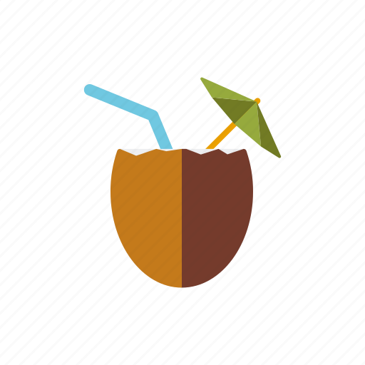 cocktail, coconut, drink, holidays, travel, tropical, vacations icon
