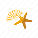 beach, marine life, seashell, souvenirs, starfish, travel, vacations icon