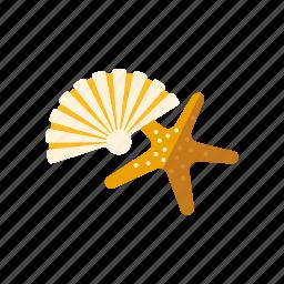 beach, marine life, seashell, souvenirs, starfish, travel, vacations icon