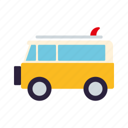 bus, camper, surfing, tourism, travel, vacations, van icon