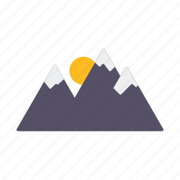 alpine, holidays, mountain range, mountains, travel, vacations, winter icon