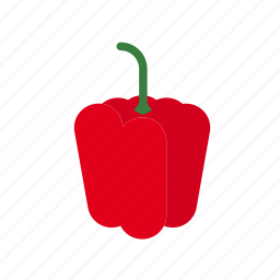 bell pepper, food, pepper, red, vegetable icon