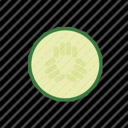 cucumber, food, slice, vegetable icon