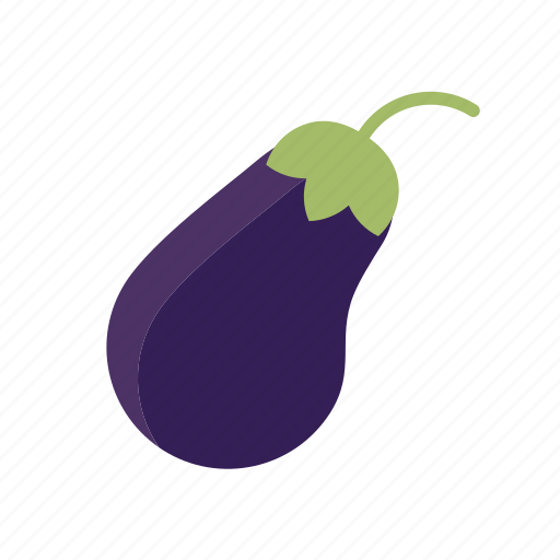 eggplant, food, freshness, groceries, healthy eating, vegetable icon