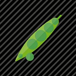bean, food, pea, peapod, vegetable icon