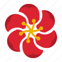 bloom, decoration, flower, pattern, six icon