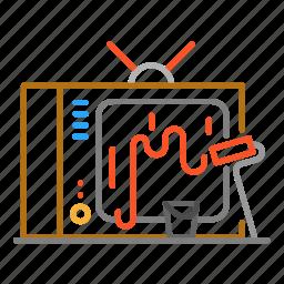 colour, design, line, paint, tv icon