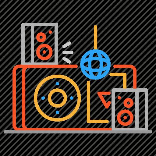 colour, design, disco, ipod, line, music, player icon