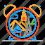clock, colour, design, line, sights, travel icon