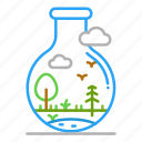 colour, design, flask, french, line, swamp icon