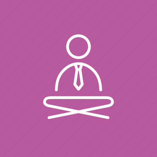 Businessman yoga, coloured, colourful corporate yoga, corporate, yoga, yoga in suit, yoga in tie icon - Download on Iconfinder