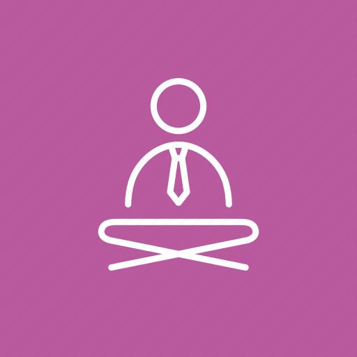 businessman yoga, coloured, colourful corporate yoga, corporate, yoga, yoga in suit, yoga in tie icon