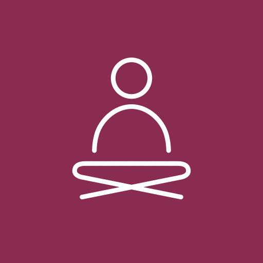 coloured, on, one, self breathing, self meditation, yoga, yoga meditation icon