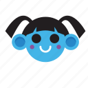 blue, color, cute, head, pink, style, yellow icon