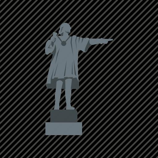 christopher, columbus, landmark, monument, open, spain, statue icon