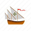 ocean, sail, santa, sea, ship, travel, vessel icon
