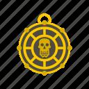 art, aztec, death, evil, human, mayan, skull icon