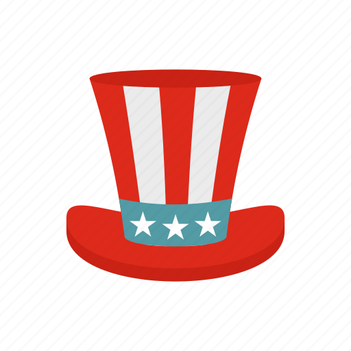 america, american, hat, holiday, star, top, usa icon