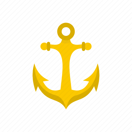 anchor, marine, metal, nautical, old, security, vintage icon