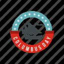 america, badge, christopher, ocean, sea, ship, vessel icon