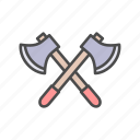 axe, battle, combat, cross, fight, war, weapon icon