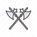 axe, battle, cross, fight, kill, war, weapon icon