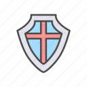 battle, defence, knight, medieval, protection, roman, shield icon