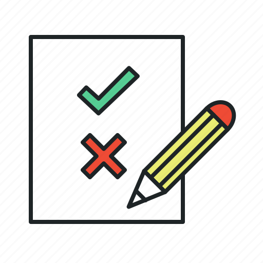 answer, appropriate, assumption, attempt, choice, cons, correct, debug, decision, diagnostics, exams, form, inappropriate, include, inclusive, permission, pros, qa, questionnaire, recommendation, resolution, revise, revision, rules, solve, take test, test, vote, voting icon