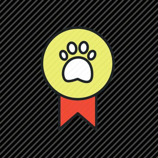 animal, animal exhibition, award, badge, breeder, medal, pet, reward, trophy, winner icon