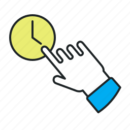 change, choose, convenient, fast, opening, schedule, set, time, trial, wait icon