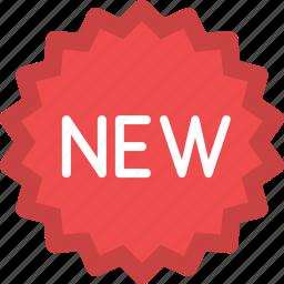 badge, new, new product, shop badge, shopping icon