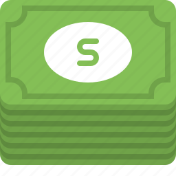 banknotes, cash, currency, dollars, finance, money, payment icon