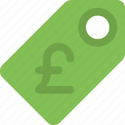 currency, label, pound, price, price tag, sale, tag icon