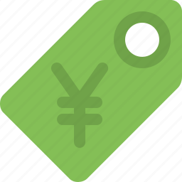 currency, label, price, price label, price tag, tag, yen icon