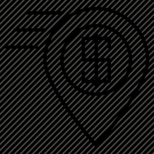 area, commerce, locate, located, location, position icon