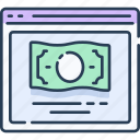 banking, business, cash, finance, money, online, payment icon