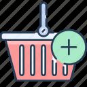 add, basket, shop, shopping, shoppingbuy, to icon