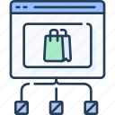 business, commerce, ecommerce, network, online icon