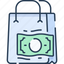bag, cash, commerce, money, payment, shopping icon
