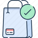 bag, business, check, commerce, shop, shopping icon