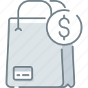 bag, buy, money, payment, shop, shopping icon