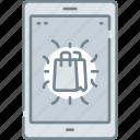 bag, digital, ecommerce, mobile, shopping icon