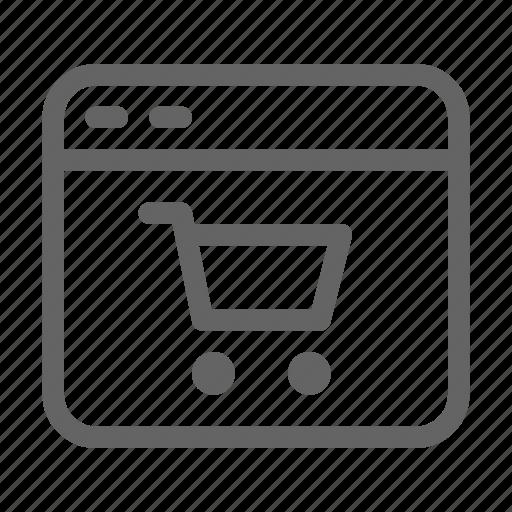market, online, shopping, website icon