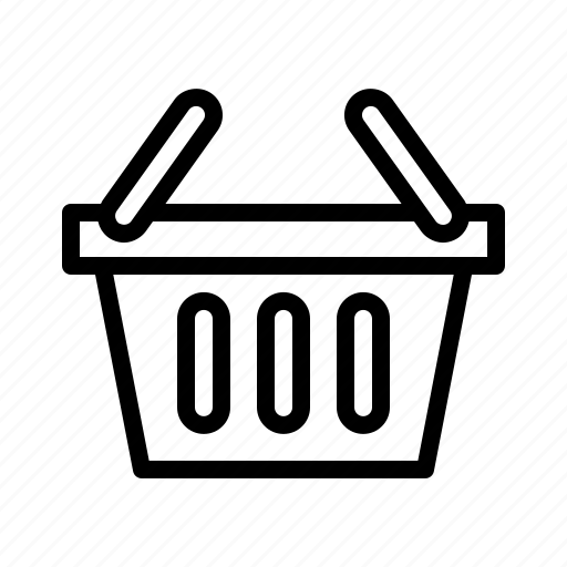 basket, commerce, groceries, place, shopping icon