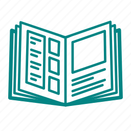 magazine, notebook icon