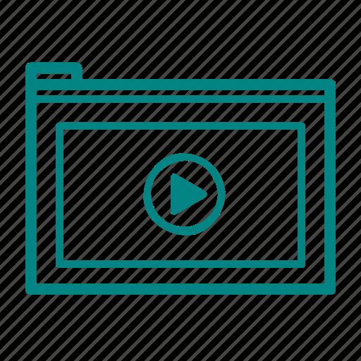 site, video icon