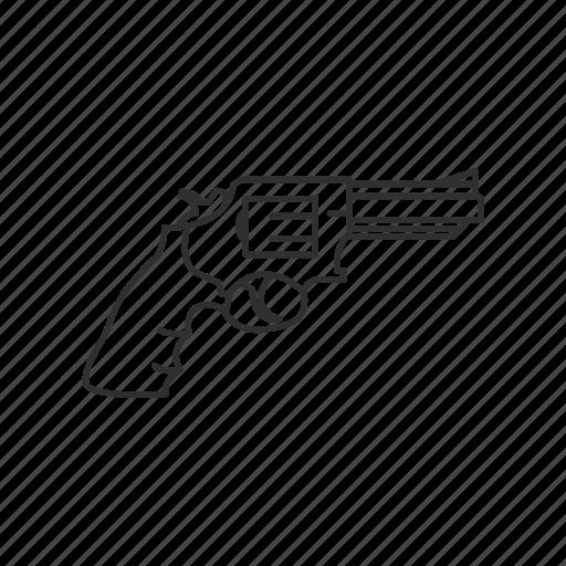 firearms, gun, handgun, military, revolver, swat, weapons icon
