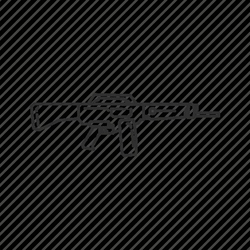 automatic, firearms, gun, military, shotgun, swat, weapons icon