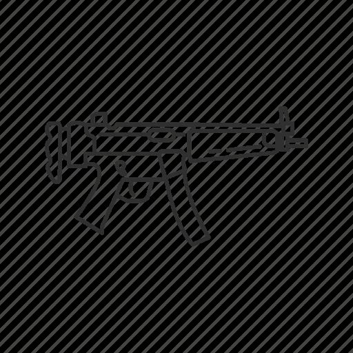 automatic, firearms, gun, mp5, submachinegun, swat, weapons icon