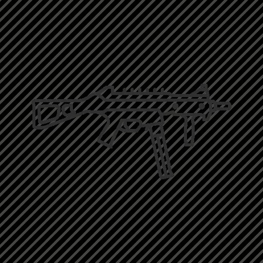 automatic, firearms, gun, guns, machine gun, military, weapons icon